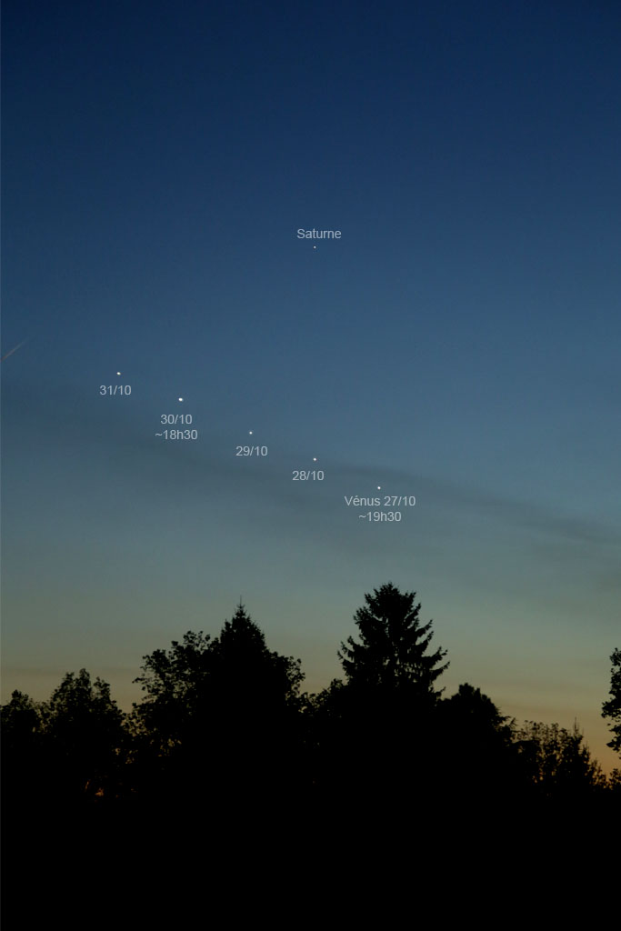 Conjonction Vénus-Saturne VenusSat5jL