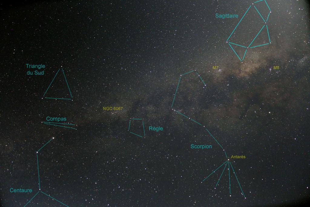 Ciel austral : Voie Lactée et nuages de Magellan SA-A14L